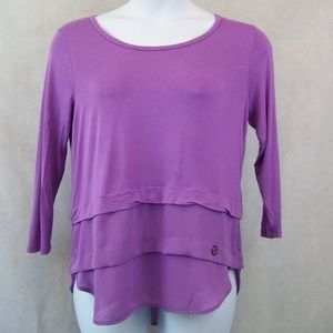 Michael Kors Pull Over Blouse Size Medium Lilac
